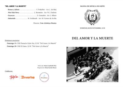 Programas conciertos 'Del Amor y la Muerte'