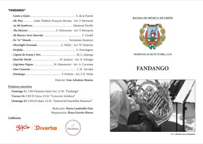 Programas conciertos 'Fandango'