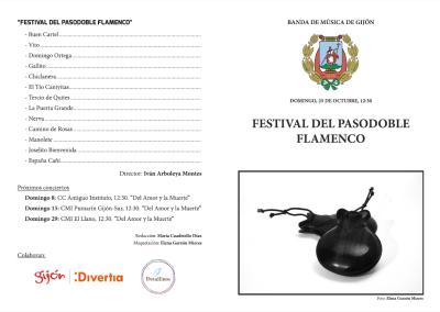 Programa del concierto 'Festival del Pasodoble Flamenco'