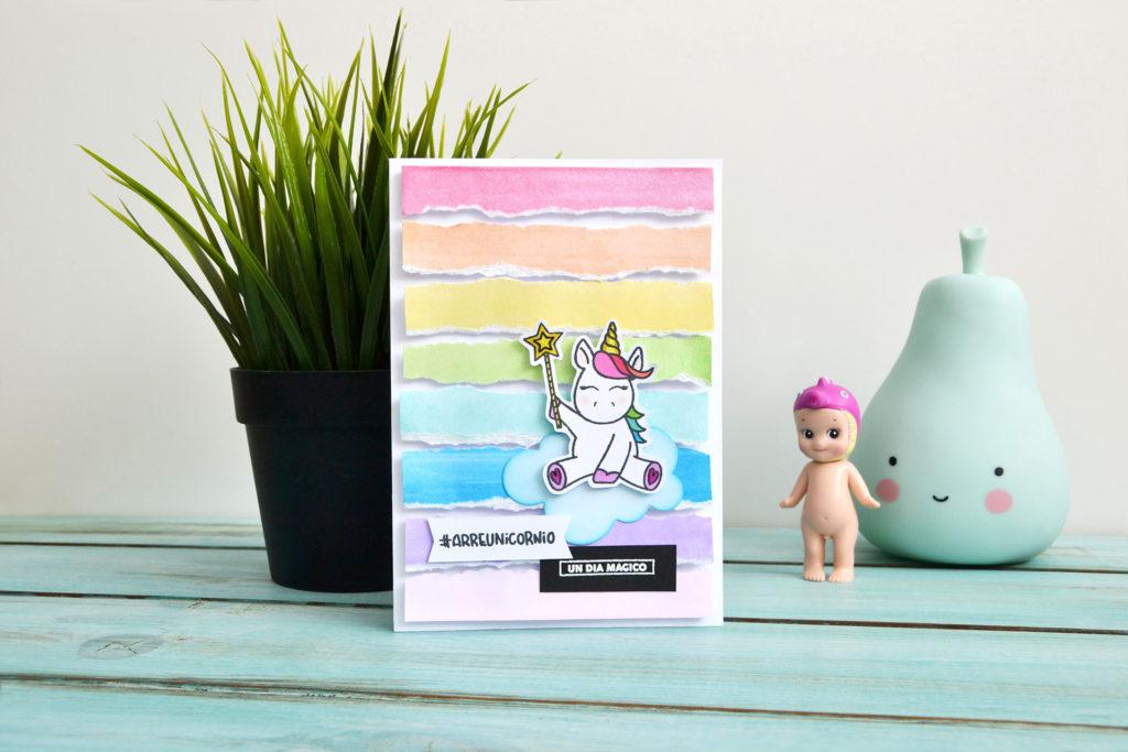Tarjeta unicornio