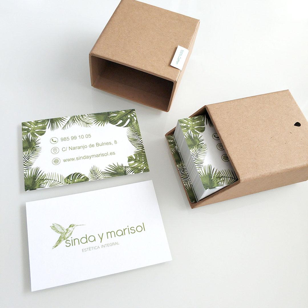 Sinda y Marisol, tarjetas de visita 2